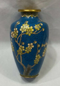 Japanese 7 Cloisonne Cherry Blossom Tree With Butterfly
