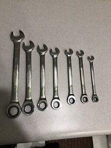 9317 Gearwrench 7 Piece Ratcheting Combination Wrench Set Sae