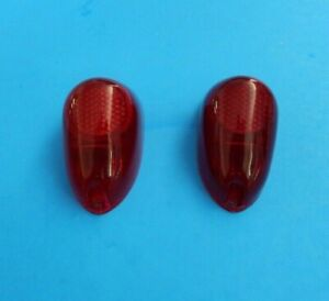 New Pair Rear Tail Light Lens Stop Lamp Lens Mga 1500 And 1600 Lucas On Lens