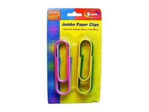 Set Of 432 72 Packs Of 6 Bulk Lot Large Colored 4 Jumbo Paper Clips