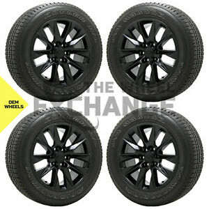 20 Chevrolet Silverado 1500 Truck Black Wheels Rims Tires Factory Oem 2019 2020