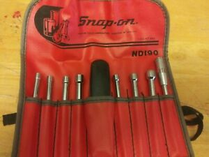 Snap on Tools Nd190 9pc Sae Nut Driver Set 7 32 3 8 Pouch