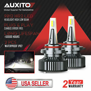 Auxito Canbus 9012 Hir2 Led Headlight Bulb Hi Lo Beam 16000lm 6500k Error Free