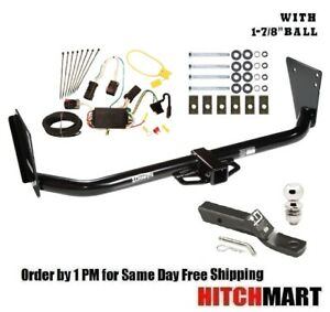 Class 3 Trailer Hitch Tow Package 1 7 8 Ball For 2004 2006 Dodge Durango 2 Sq