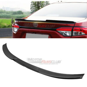 For Toyota Corolla Levin 2020 Carbon Fiber Look Rear Tail Trunk Spoiler Wing Lip