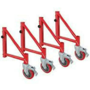 Louisville Ladder 398007a Outriggers For Rolling Tower Scaffold set Of 4 New