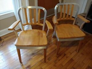 Vintage Shaw Walker Mid Century Industrial Chairs Circa 1960s Set Of 2 Office