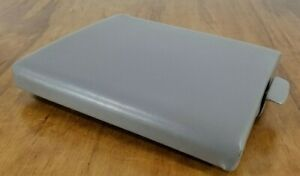 97 03 Ford F 150 Center Console Lid Fold Down Armrest Gray Leather 11 x13