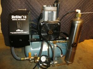 Air Techniques Dental Air Compressor System System 3 4 Hp Used