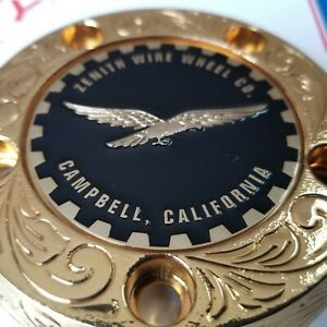 Zenith Campbell Califonia Wire Wheel 2 25 Metal Chip Emblems Black gold