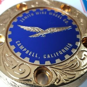 Zenith Campbell Califonia Wire Wheel 2 25 Metal Chip Emblems Blue gold