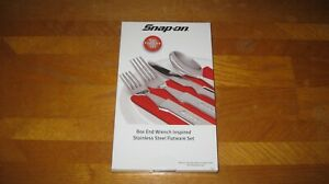 New Snap On Tools Wrench Inspired Stainless Steel Flatware Set Knife Silverware
