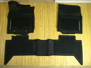 Toyota Tacoma Double Cab All Weather Floor Mats 2016 2017 Automatic Oem New Trd