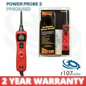Power Probe 3 Auto Electrical Circuit Tester Red 2 Year Warranty