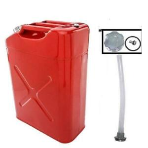 Portable 5 Gallon Petrol Jerry Gas Can W Spout 20l 0 6mm Cold Rolled Steel Tank