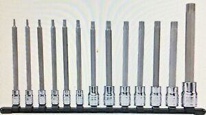 Blackhawk Proto Hw 9513lt 13 Pc Long Star Bit Socket Set New