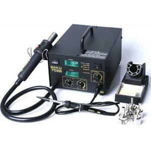 702b 2 in 1 Electric Smd Soldering Station Hot Air Heat Gun 110v With 5 Nozzles