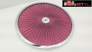 14 Superflow Air Cleaner Filter Lid Washable Chrome Hot Rod Race Car Sbc Bbc