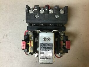 Square D 8536 Co 3 Size 1 Motor Starter With 480 Volt Coil
