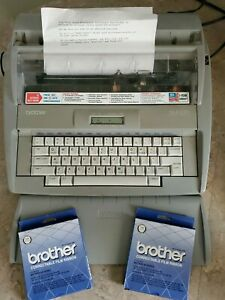 Brother Sx 4000 Portable Electronic Typewriter Dictionary Lcd Daisy Wheel Euc