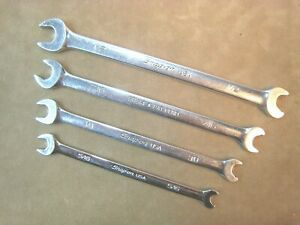 Snap On No Srs Sae Open End Flank Drive Plus Speed Wrench Set 5 16 3 8 7 16 1 2