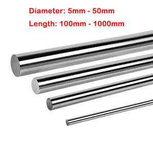 Cylinder Rail Linear Shaft 5mm 50mm Hardened 45 Steel Smooth Rod Optical Axis