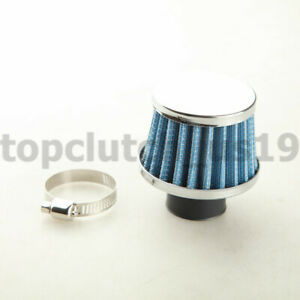 25mm 1 Universal Turbo Vent Crankcase Air Breather Intake Filter Blue