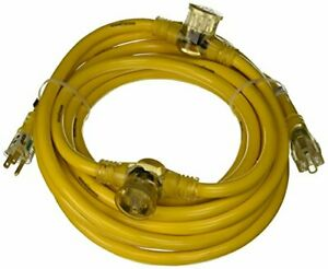 Yellow Jacket 2830 Woods Stw Adapter Cord With 3 outlet Lighted Power 25 Ft
