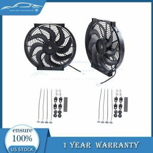14 Inch Electric Radiator Cooling Fan For Hyundai Accent Elantra 12v 3000cfm 2x