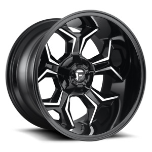 4 20x10 Fuel Gloss Black Mill Avenger Wheel 6x135 6x139 7 For Ford Jeep