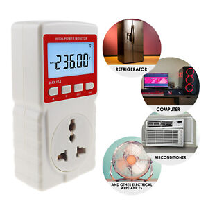 Power Meter Consumption Electricity Usage Monitoring Watt Voltage Socket Outlet