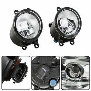 Set For Toyota Camry Corolla Tacoma Rav4 Yaris Clear Fog Light Driving Lamp