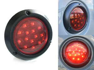 International Scout 80 800 Red Led Stop Turn Tail Light Lens W Texture Housing