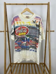 NASCAR Charlotte Lowes Motor Speedway Coca Cola 600 XL T-Shirt Allover Print