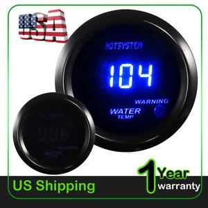 Hotsystem 2 Blue Digital Led Fahrenheit Water Temp Temperature Gauge Us Stock