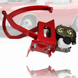 Red Manual Clutch Pedal Assembly Master Cylinder Fit Ford Chevy Street Rod Gm