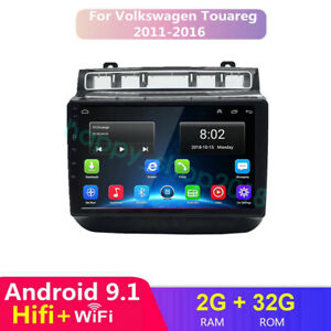 Android 9 1 Car Stereo Radio Gps Player For Vw Volkswagen Touareg Wifi Bt Fm