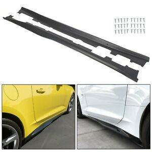Side Skirts Panel Extension Body For 16 Up Camaro Rs Ss Eos Zl1 Style