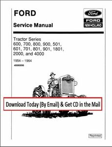 Ford Tractor 600 700 800 900 501 601 701 801 901 1801 2000 4000 Service Manual