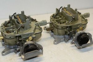 1970 71 Ford Mustang Dual Carb Set Restored Doaf An Matched Set Of 2