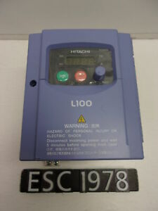 New Other Hitachi L100 004mfu2 1 2 Hp Variable Frequency Drive Vfd esc1978