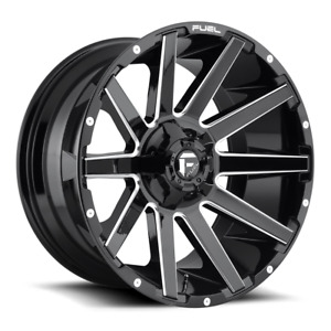 4 22x10 Fuel Gloss Black Milled Contra Wheel 6x135 6x139 7 For Ford Jeep