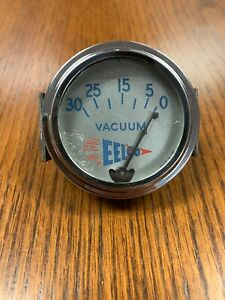 Vintage Eelco Vacuum Gauge Scta Vintage Hot Rod Dash Panel Trog