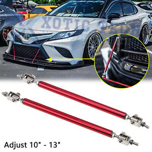 10 To 13 Red Bumper Lip Splitter Strut Rod Tie Support Bars For Toyota 86