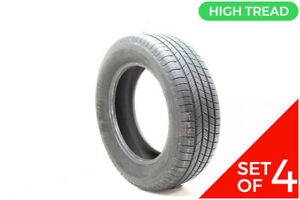 Set Of 4 Used 225 65r17 Michelin Defender T h 102h 8 5 9 5 32
