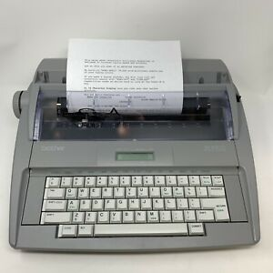 Brother Sx 4000 Electronic Daisywheel Display Typewriter W cover Works Great