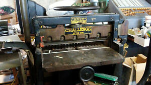 Challenge 305 Guillotine Paper Cutter 30 1 2 Used Needs New Measuring Tape