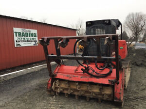 2007 Fecon Ftx130 Fm Compact Track Mulcher W Cab Only 1900 Hours