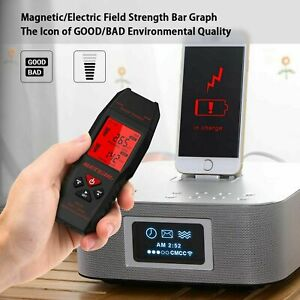 2in1 Electric magnetic Electromagnetic Field Radiation Detector Emf Tester A0p7
