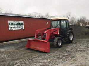 2008 Mahindra 4510c 4x4 Compact Tractor W Cab Loader Only 300 Hours